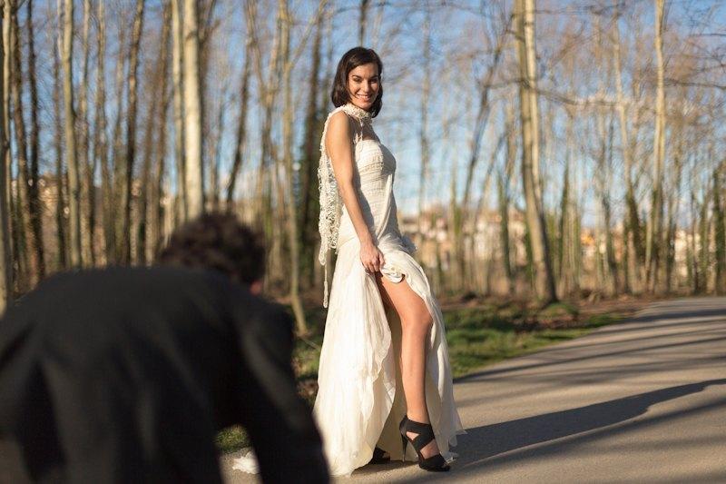 Fotografo bodas barcelona. Post boda en el Montseny