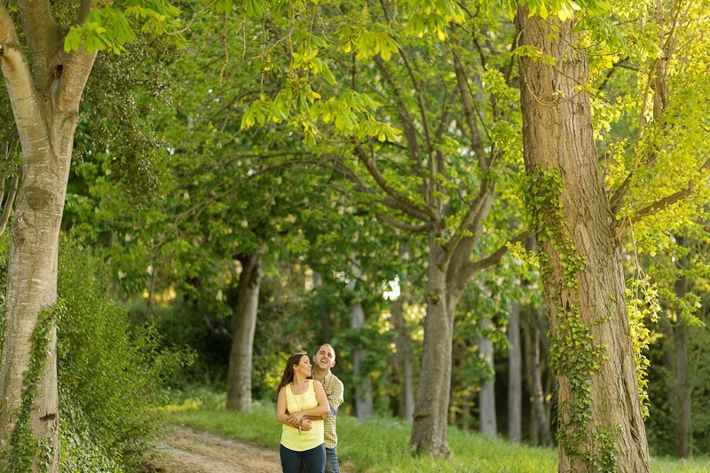 Fotos de pareja en Barcelona. Sant Quirze.