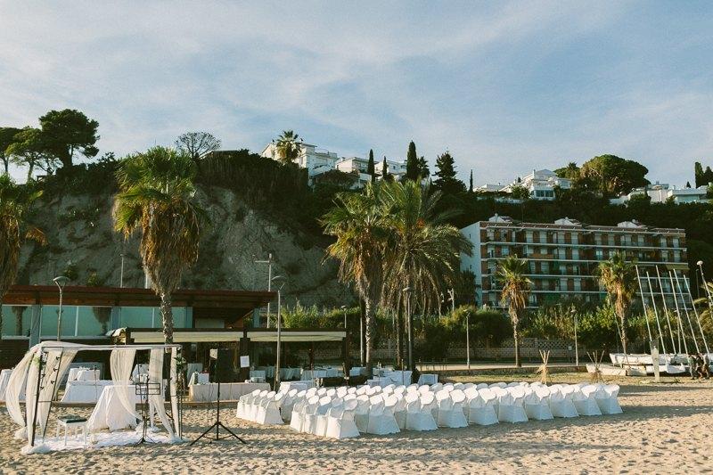 Boda en la playa canet de mar restaurante btakora for Piscina canet de mar