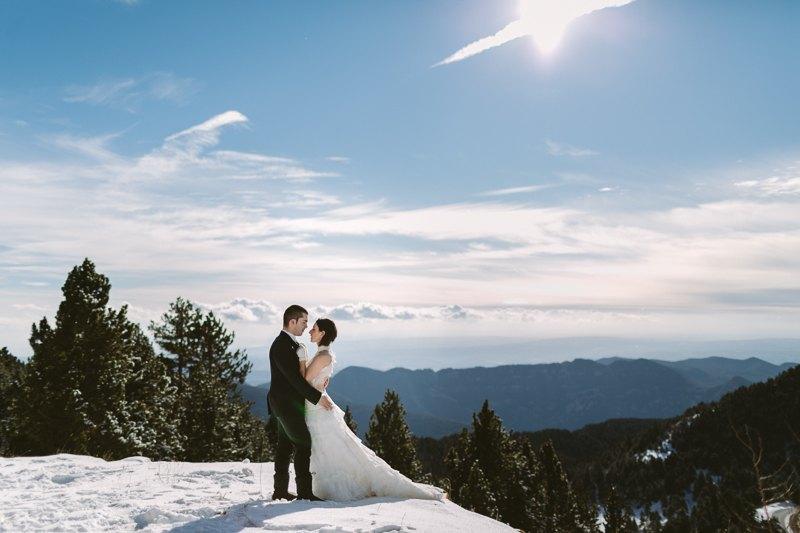sesin postboda en la nieve natalia pedro u raul caas fotgrafo de bodas